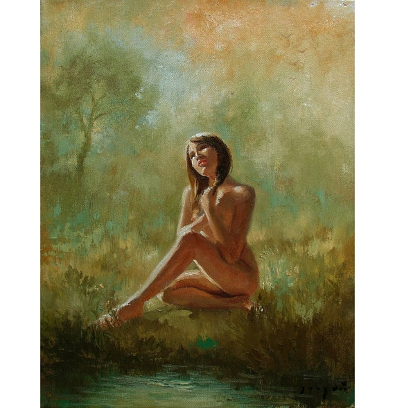 DAYDREAMING Original 11x14 Oil on CanvasPainting