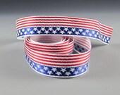 American Flag Jacquard Ribbon 3 yard length