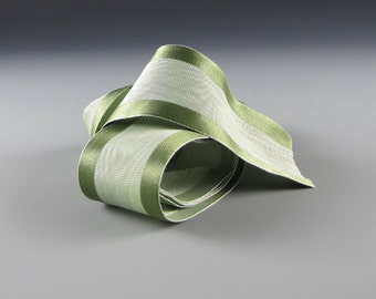 "1.5"" WEDDING SATIN RIBBON Soft Green Moire"