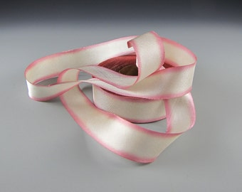"1"" WEDDING SILK Satin RIBBON  Hanah Blushing Bride    3 yd length"