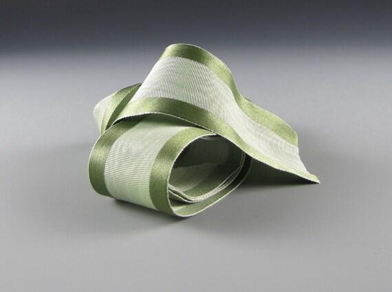 """1.5"""" SOFT GREEN MOIRE Satin Ribbon"""