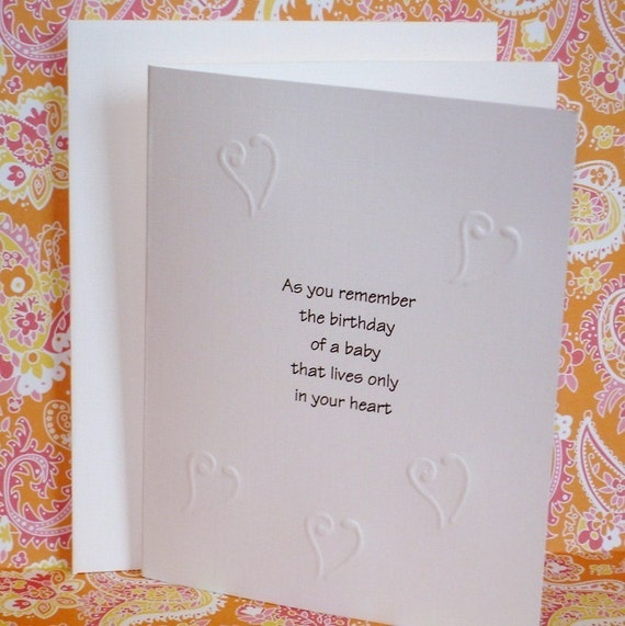 Baby Loss Birthday Card