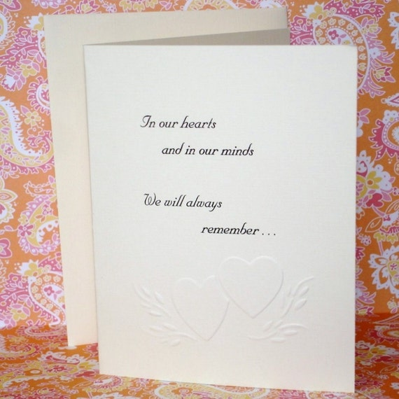 Heart and Mind Sympathy Card / Child Loss B