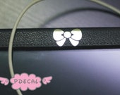 Cute Hello Kitty brushed metal color Bowknot Car Mirror Sticker Vinyl Decal