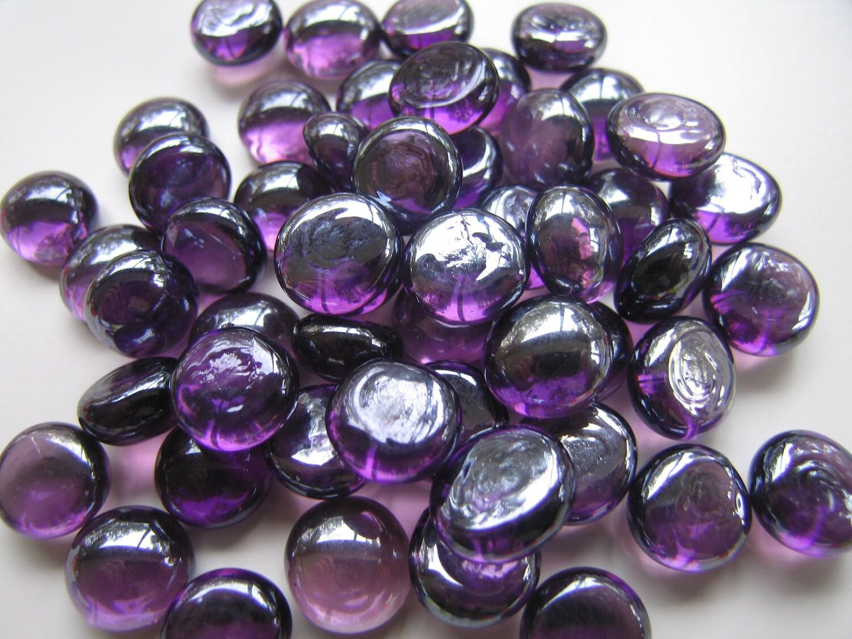 mini glass gems purple g59