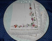 VINTAGE PLATE WITH CERAMIC NAPKIN--VERY SWEET AND NEAT