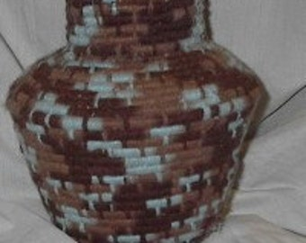 Handwoven Earth and Sky Native American Inspired Vase