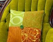 Autumn the Nature Girl - Orange, Green, Tan Pillow