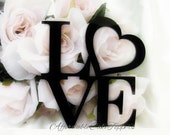 Love Cake Topper - Love Heart Cake Topper - Wedding Cake Topper - Mr and Mrs - Bride and Groom