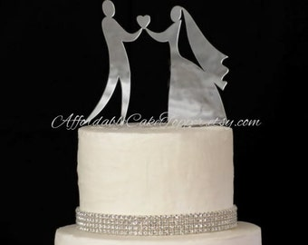 Bride and Groom - Custom Wedding Cake Topper - Personalized Cake Topper