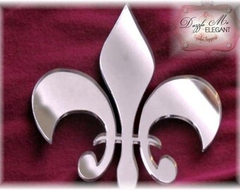 Fleur de Lis Cake Topper - French Cake Topper - Wedding Cake Topper - Paris Cake Topper - Flower Cake Topper - Mr and Mrs - Bride and Groom