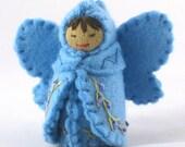 Sky Blue Fairy Doll- Waldorf Inspired
