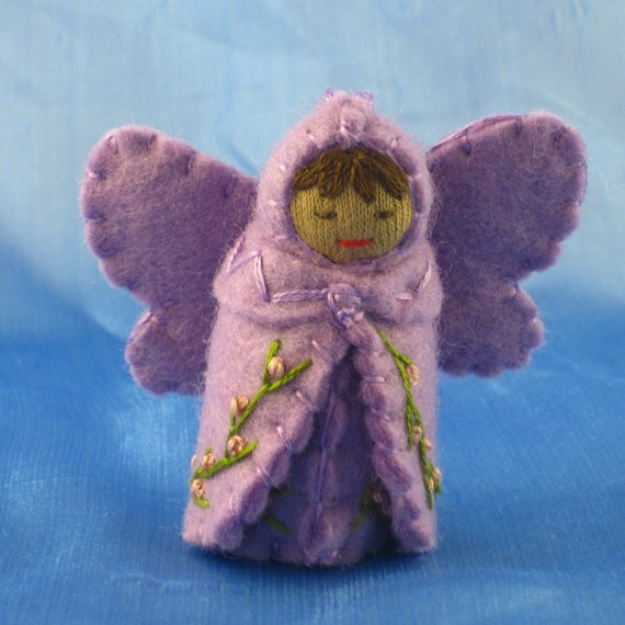 Orchid Purple Fairy Doll- Waldorf Inspired