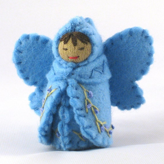 Sky Blue Fairy Doll- Waldorf Inspired