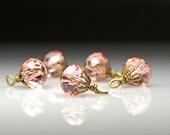 Bead Dangles Peach Pink Glass PK124