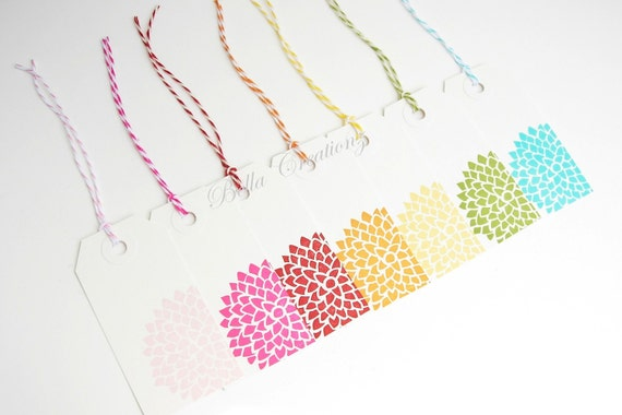 Gift Tags - Multi Colored Mums