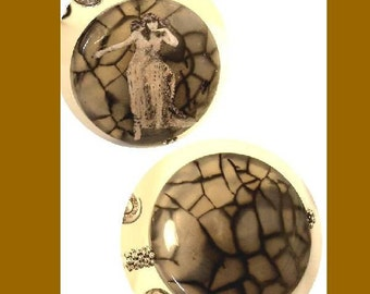 Reserved for Judy HUGE Bizarre Cleopatra Gothic Spider stone Butterfly reversible necklace