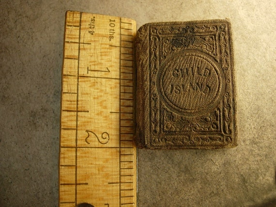 1863 miniature Child Island Book 1st edition By Aunt Laura