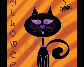 HALLOWEEN STRIPED KITTY
