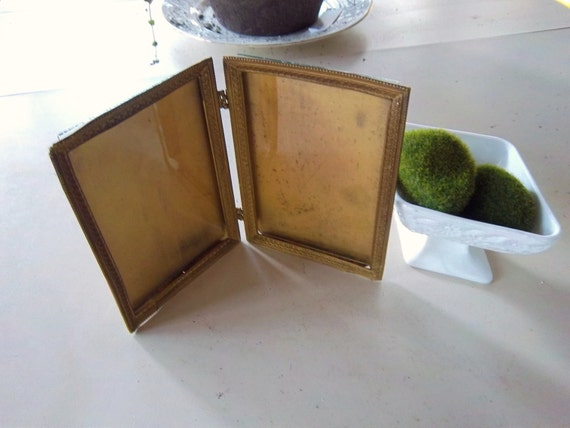 vintage Double Rustic Painted Tin Frames