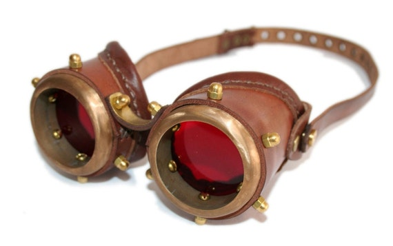 Steampunk goggles from solid brass Anatoray by MannAndCo ...