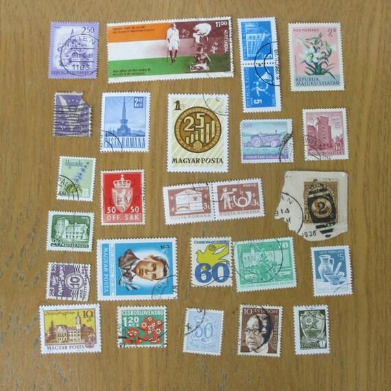 Vintage World Postage Stamps - Set of 25