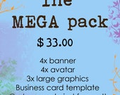 The MEGA pack - Complete Etsy Shop Makeover Custom Graphic Package