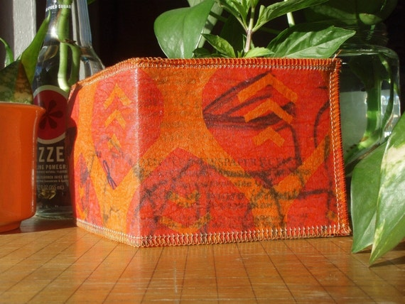 Pink Leaves - Recycled Plastic Wallet