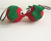 Handmade Pair of Holly Berry Gonks