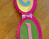 Custom Personalized Wool Felt Name Banner - 9 Letters
