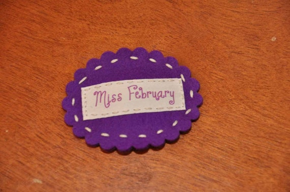 Miss February Hair Clip - Amethyst Birthstone