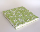 Wedding Guest Book, Photo Album, Green Blossoms, Ready To Ship