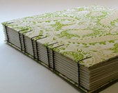 Photo Album Wedding Guest Book, Pomegranate Paisley in Green, Made To Order