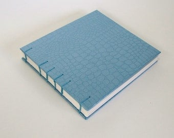 Handmade Wedding Guest Book, Blue Stones, Ready To Ship