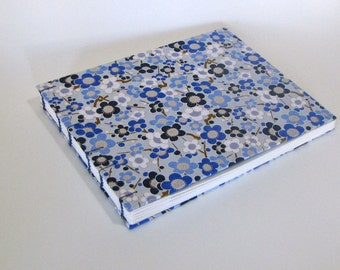 Plumtastic in Blue Large Wedding Guest Book, Baby Book, Ready to Ship