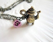 Victorian Rose and Tea  Necklace Downton Abbey Style