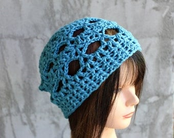 Hugs and Kisses Beach Beanie in Pima Cotton - 2012 Beach Collection - READY to SHIP