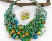 MADAGASCAR- linen necklace