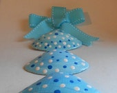 SALE Polka dot blues seashell decoration