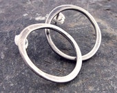 Small Circle Post Earrings in Sterling Silver