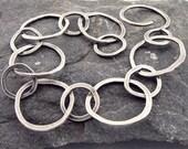 Sterling Silver Large Link Artisan Made Bracelet