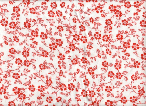 flower print cotton knit fabric