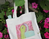 Chirping Bird Natural Cotton Tote Bag