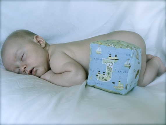 Personalized Cloth Baby Blocks - Set of 6