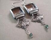 Fruitless Journey  - Steampunk Earrings, Bee Earrings, Silver Earrings