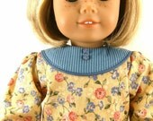 Made For 18 Inch American Girl Doll Dropped Waist Dress Floral and Stripes Girls Toy
