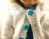American Girl Doll Clothes, Hand Knit Hoodie Sweater, Pants, T Shirt
