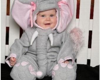 Elephant Costume, Toddler, Fleece Jumpsuit with Hood - CUSTOM Lumpy the Heffalump