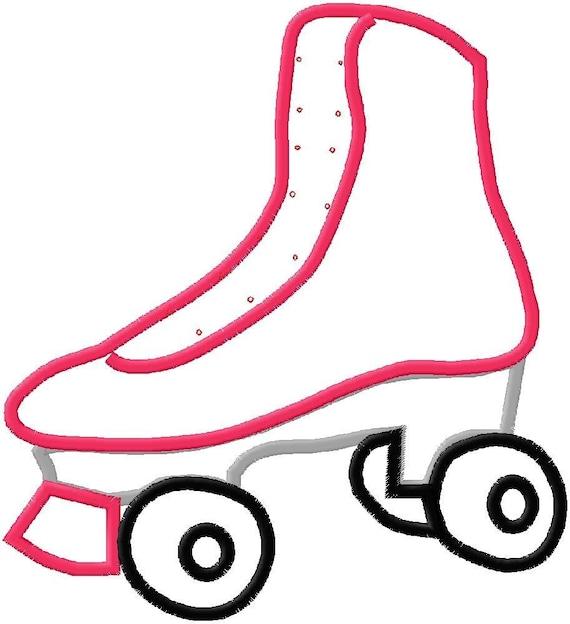 Roller skate applique design