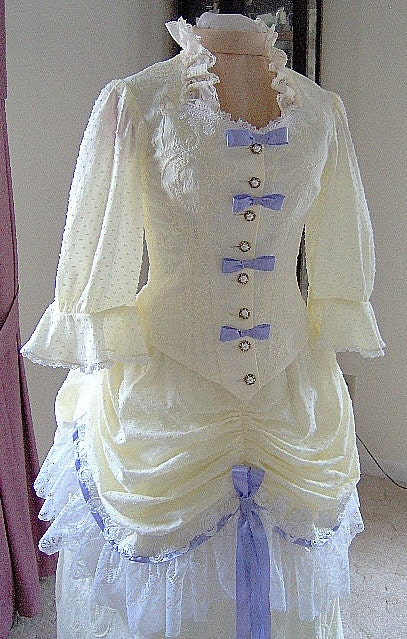 for orders only custom made 1800s victorian dress 1883